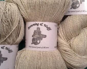 Marled Natural Alpaca/Merino Wool Sock/Lace Yarn - 100 gram skein