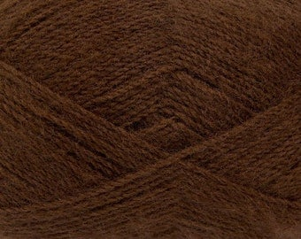 Dark Brown - Angora/Acrylic Sock Knitting Yarn, 100 grams