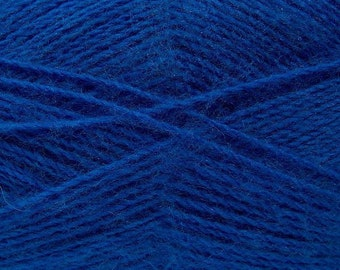 Royal Blue - Angora/Acrylic Sock Knitting Yarn, 100 grams