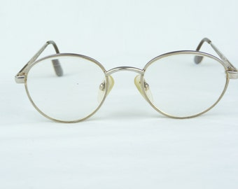 vintage eyeglasses, Modern Times, Network, gold frames, metal frame, vintage eyewear, vintage glasses,small size,childs glasses,round lenses