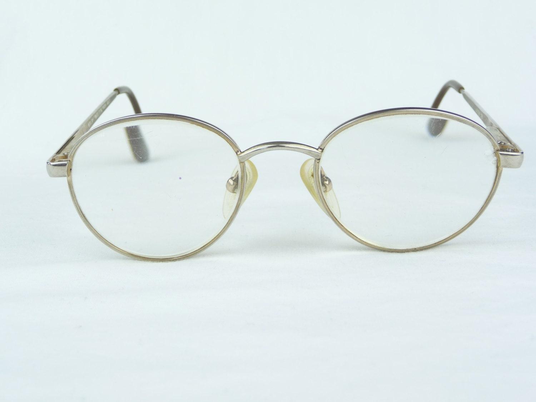 Glasses Frames Modern : vintage eyeglasses Modern Times Network gold frames metal