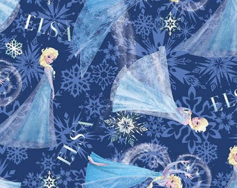 FABRIC - by the yard - Disney Frozen Fabric - Frozen Character Toss EXCLUSIVE