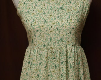 1930s - Floral Maxi Dress - Empire Waist or Baby Doll