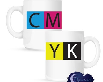 CMYK Artist and Graphic Designer's 15 oz Coffee Mug