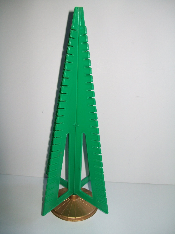 Vintage Plastic Christmas Tree Card Holder Christmas Card