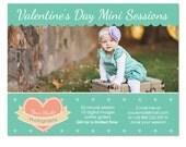 Valentine's Day Mini Session Marketing Board Template - INSTANT DOWNLOAD