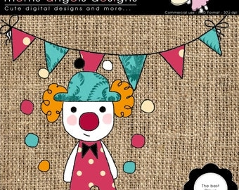 The best clown clipart - COMMERCIAL USE OK
