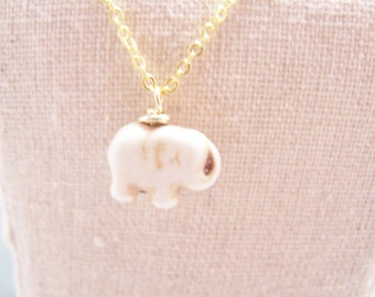 Lucky Elephant Necklace in Ivory