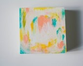 Texture Study - 4x4 Original Acrylic Abstract on Wood Panel