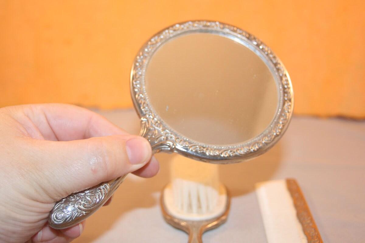 Fancy vanity mirror brush comb set for Fancy vanity mirror
