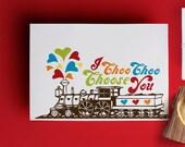 I Choo Choo Choose U- Single Valentine Card