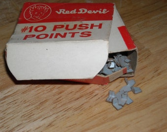 vintage box of Red Devil #10 push points - used with glass