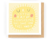 A Little Ray Of Sunshine - Greeting Card (1-70C)