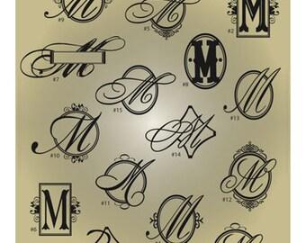 Monogram Letter M SVG Files - Ai Svg Eps Gsd - Cuttable SVG Monogram M - Monogram Vector File for Vinyl Cutters - Monogram Digital Cut File