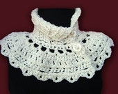 INSTANT DOWNLOAD Crochet Pattern PDF 91 Cream Capelet Neckwarmer, cowl collar scarf