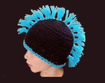 Crochet Pattern - Mohawk Hat - PDF 234 INSTANT DOWNLOAD  Crochet Patterns by Ashton11