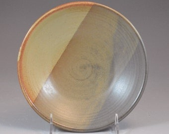 Small Shino Tan Brown and Steel Gray Shino Serving Nesting Bowl Thrown on the Potter's Wheel- set available