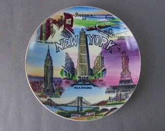 "Vintage New York City Landmark Souvenir 8"" Plate"