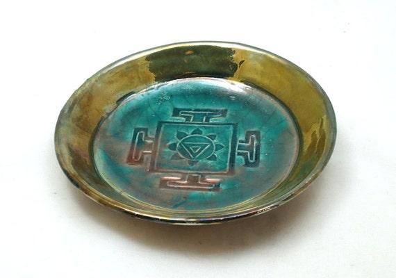 Divine Feminine Yantra Offering Bowl  Handmade Pottery