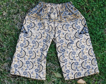 Hippie Kids pants - Black Grey Abstract - size 2 -Boys or Girls- Read measurements