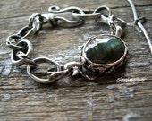 Artisan Jewelry  -  Sterling Silver Metalwork Bracelet  -  Handmade Chain Bracelet  -  Labradorite Bracelet