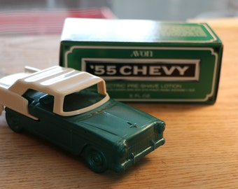 Vintage 1955 Chevy Wild Country After Shave Decanter by Avon, IB