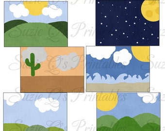 Landscape Clipart Collection - Immediate Download