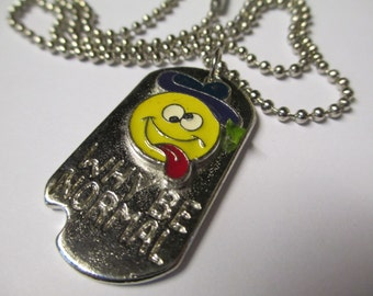Vintage 90's WHY Be NORMAL Necklace DEADSTOCK