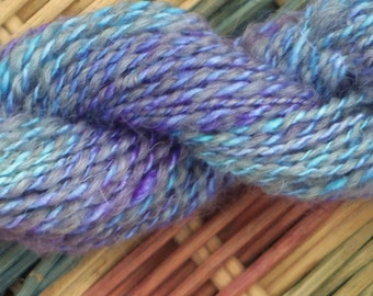 SALE Handspun Silk and Wool Mini Skein 52 yds