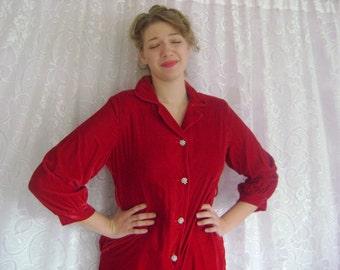 Red Velvet Pants Suit