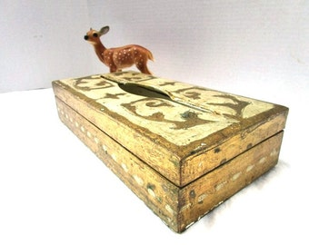 Vintage Tissue Box, Florentine Gold and Ecru, Made in Italy, Vanity Dresser Organizer, Shabby Chic, Hinged Lid, Rectangle, Royalty, Bridal