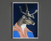 Art Print - Sami Reindeer - Signed by Artist - 8x10 // 16x20 // 22x28
