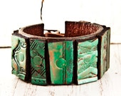 Admired Leather Jewerly - Treasury Bracelet Wrist Cuff - Etsy Finds Beautiful Leather Cuffs