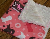 Western Cowgirl Baby SECURITY BLANKET/LOVEY