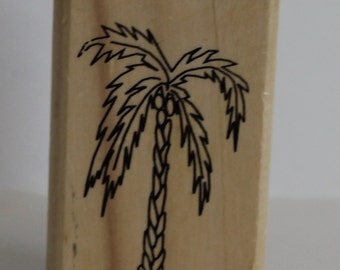 Coconut Tree Rubber Stamp