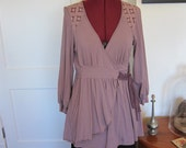 Ella Moss Large Flowy Purple Wrap Around Blouse