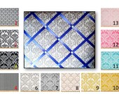 Damask  Print French Memo Board in Your choice of damask fabric by Premier Prints - 24 x  30