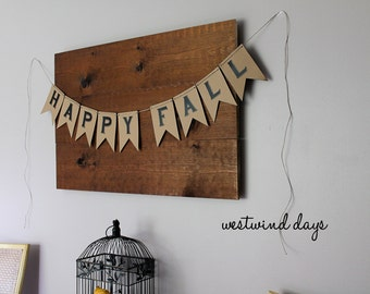 Happy Fall Banner - Instant Download Printable