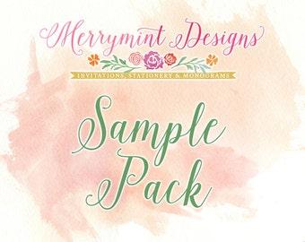 Sample Wedding Invitation Pack - multiple designs