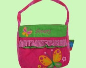 Personalized Stephen Joseph Quilted BUTTERFLY Themed Purse-Monogramming Included In Price