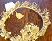 antique bridal tiara hair flower veil headpiece crown