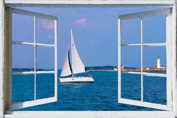 Offenes fenster zeichnen  Wand Wandbild Fenster selbstklebend öffnen Fenster Ansicht-3