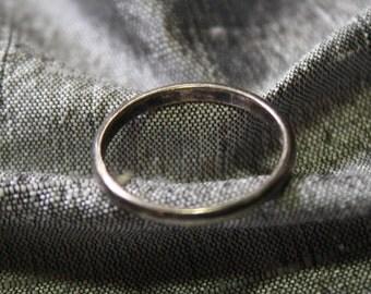 Vintage Sterling Silver Engagement Band- Size 4
