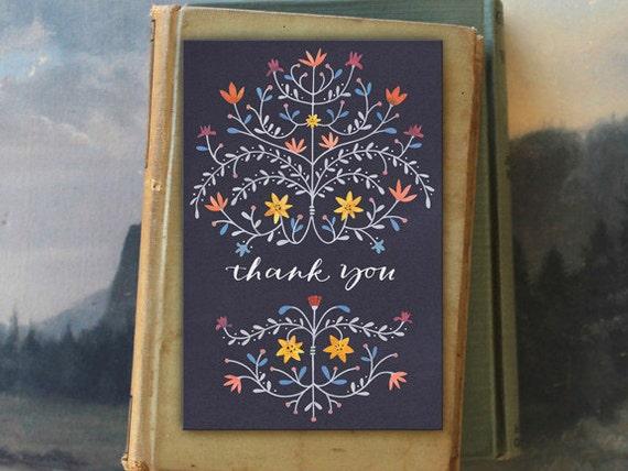 Darlak Thank You // 6 Card Folio // Fawnsberg Stationery