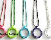 SALE 1 pc 30mm Plastic Crystal Floating Memory Locket Magnetic You Choose Colors + Free Chain