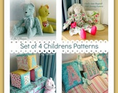 Set of 4 Childrens PDF sewing Patterns