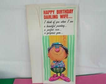 Vintage Wife Happy Birthday Card