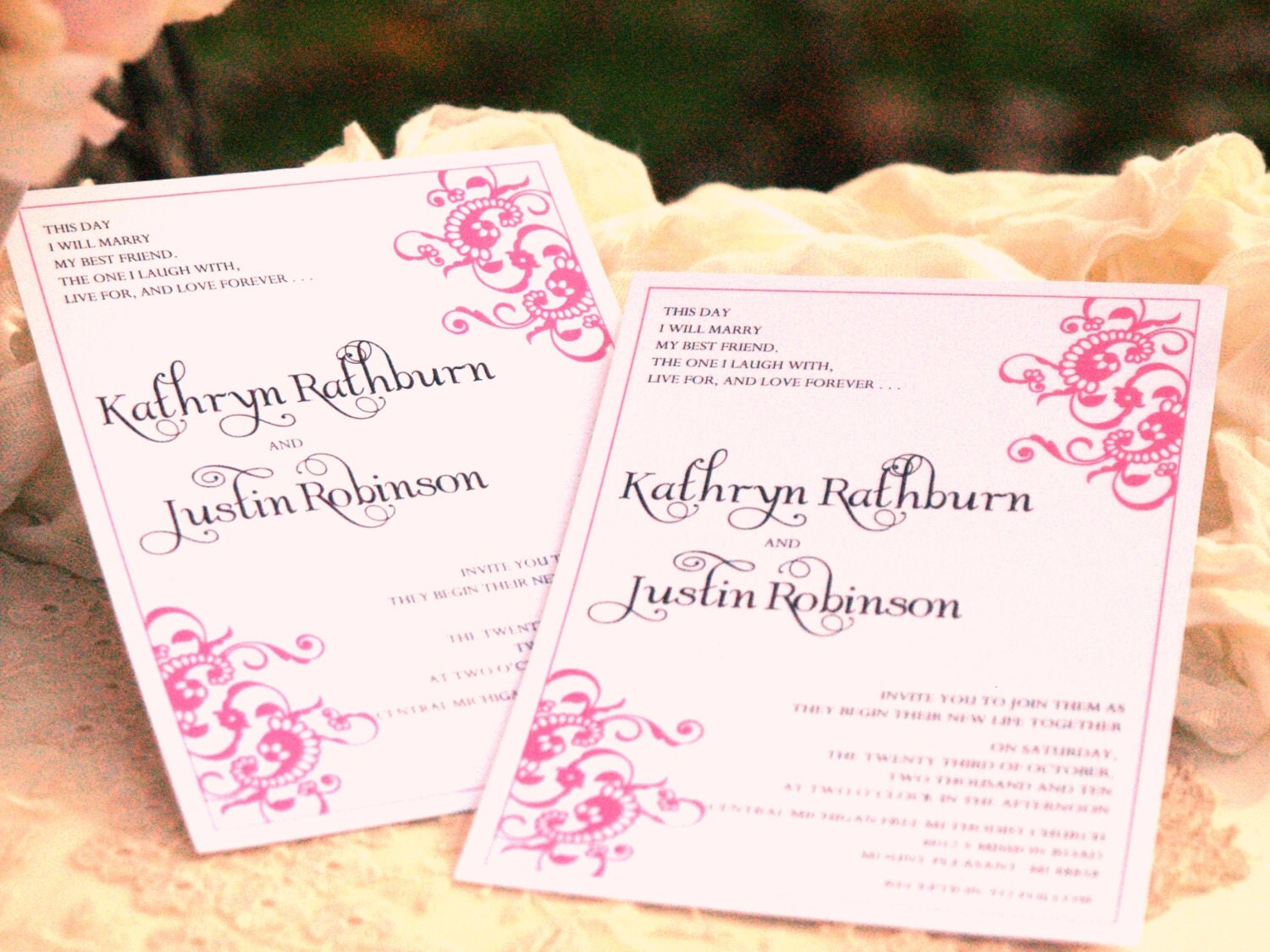 Flourish Wedding Invitations: Fancy Flourish Wedding Invitations