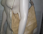 vintage Kate Spade Leather Shoulder Bag in Butter and Cream