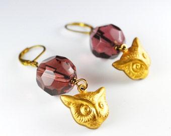 Steampunk Jewelry -- Vintage // Steampunk Earrings // Clock Hand Beaded Earrings by Steampunk Vintage - SALE